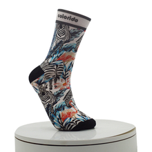 Zebra And Flamingo Pattern Digital Printed Socks